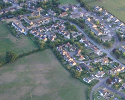 Aerial view of Kington St Michael, September 2005, taken by Gerry Elms