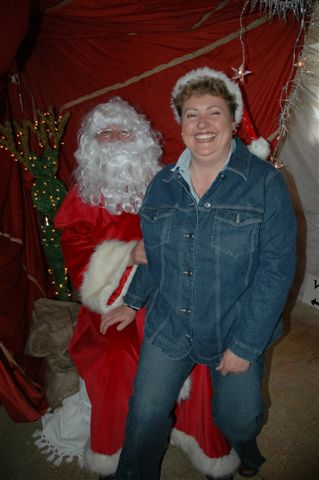 Angie visits Father Christmas