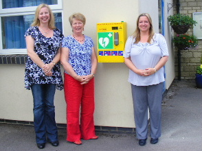 The defibrillator is installed at the school, July 2011