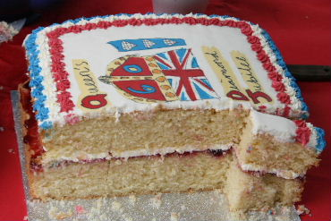Some of the cake at the Diamond Jubilee cake sale, 22nd July '11
