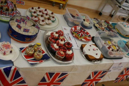 Some of the cakes in the competition