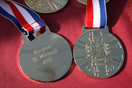Diamond jubilee fun run medals 11.03.12