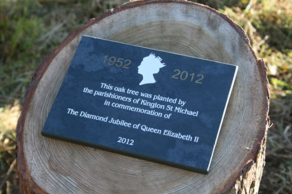 Diamond Jubilee oak tree plaque