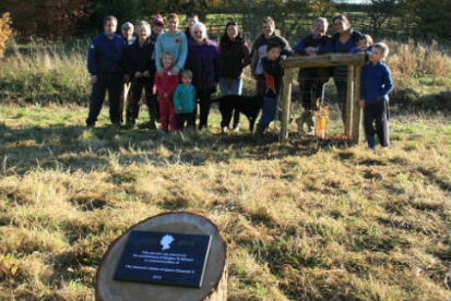 Diamond Jubilee oak tree plaque unveiling, 11th November 2012