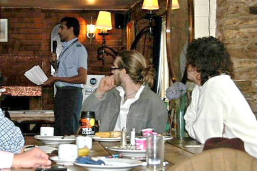Darryn Rawlins making a presentation at the Business Breakfast on 3rd November '11