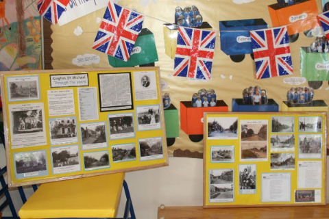 Royal celebrations display