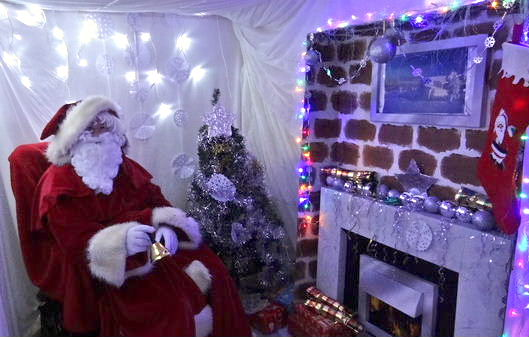 Father Christmas in his grotto at the Christmas Fayre on December 12th