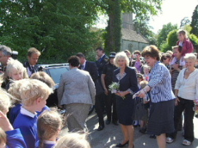 HRH The Duchess of Cornwall meets local schoolchildren, 11th May 2009