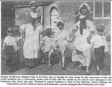 Kington St Michael At Home Day, 1991 - respresentatives of St Nicholas Playgroup (now Acorns Pre-school)