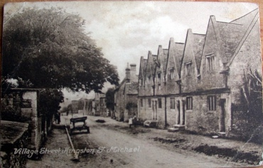 An old photo of Kington St Michael's main street