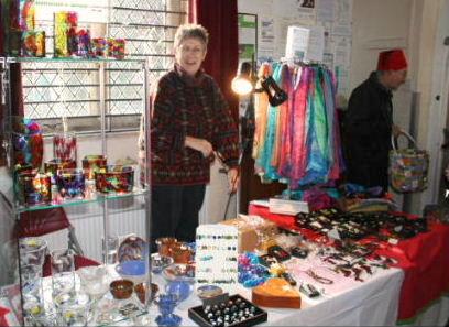 KSM Shop's craft stall at the Christmas Fayre on 1st December 2012