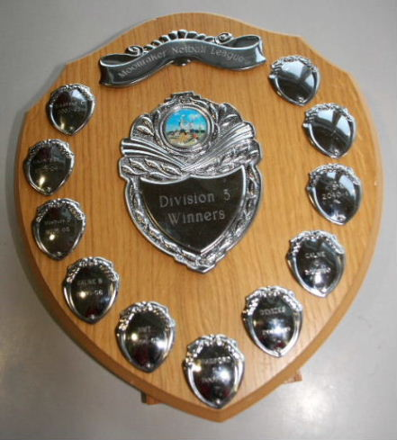 Moonraker Netball League Division 3 winners' trophy