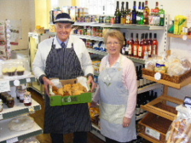 Avril Balmforth, Shop Manager, takes a delivery of pies from Artingstall's
