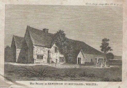 Sketch of The Priory, published in The Gentleman magazine, August 1803